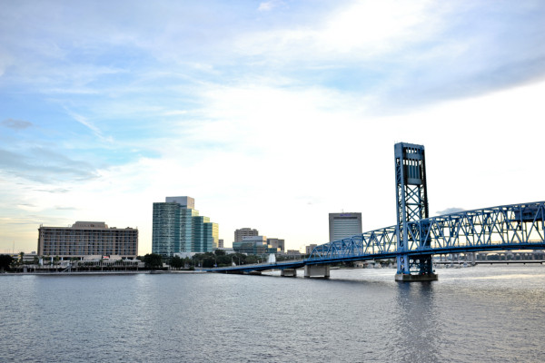 Downtown Jacksonville, View of Main Street Bridge